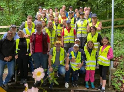 Fricktaler Rotary-Clubs mit Abfallsammelaktion «Clean Challenge»